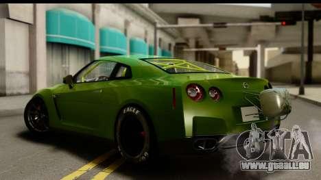 Nissan GT-R Dragster pour GTA San Andreas laissé vue
