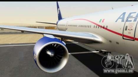Boeing 777-200ER AeroMexico pour GTA San Andreas vue arrière