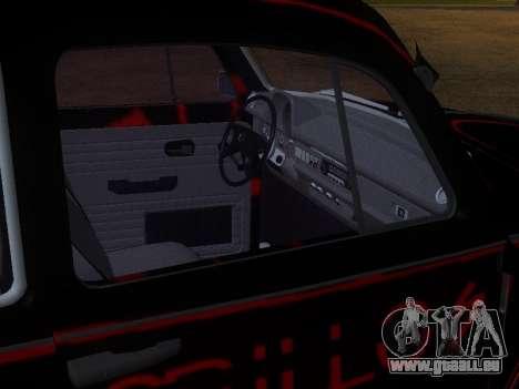 Volkswagen Super Beetle Grillos Racing v1 pour GTA San Andreas vue de dessous