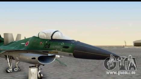 F-2A Zero Dark Green pour GTA San Andreas sur la vue arrière gauche