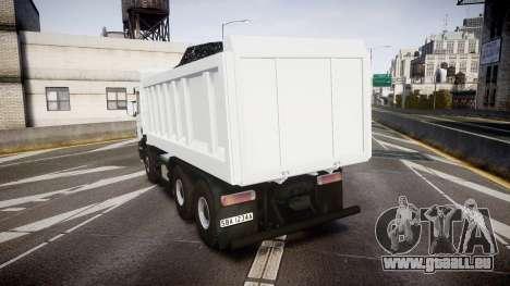 Scania P420 pour GTA 4 Vue arrière de la gauche