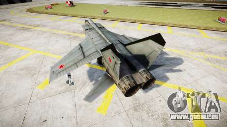 Le MiG-25 pour GTA 4 Vue arrière de la gauche