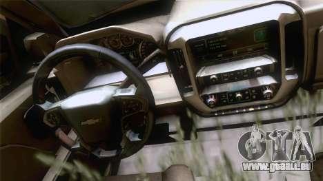 Chevrolet Silverado 2014 Work für GTA San Andreas zurück linke Ansicht