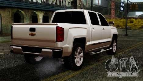 Chevrolet Silverado 2014 LTZ für GTA San Andreas linke Ansicht
