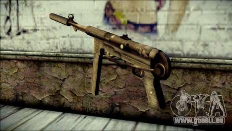Silenced MP40 from Call of Duty World at War pour GTA San Andreas deuxième écran