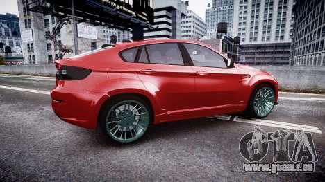 BMW X6 Tycoon EVO M 2011 Hamann pour GTA 4 est une gauche