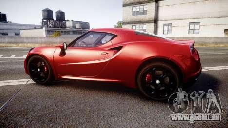 Alfa Romeo 4C 2014 pour GTA 4 est une gauche