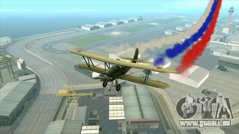 Le drapeau de la Russie pour les avions pour GTA San Andreas quatrième écran