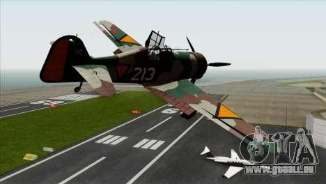 Fokker D.XXI pour GTA San Andreas laissé vue