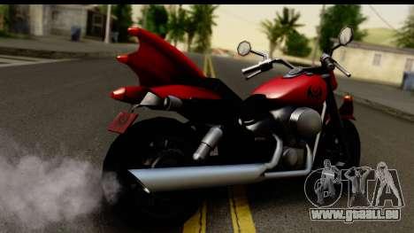 Honda Shadow 750 pour GTA San Andreas laissé vue