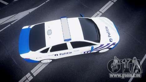 Ford Fusion 2014 Belgian Police [ELS] für GTA 4 rechte Ansicht