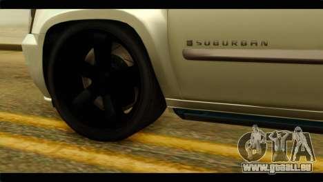 Chevrolet Suburban 2010 NFS pour GTA San Andreas sur la vue arrière gauche