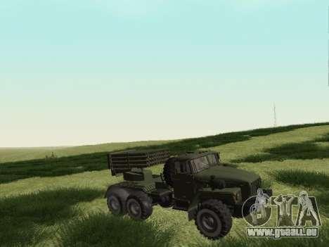 Ural 375 Grad MLRS für GTA San Andreas linke Ansicht