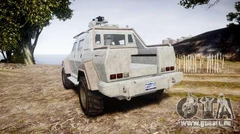 GTA V HVY Insurgent Pick-Up für GTA 4 hinten links Ansicht