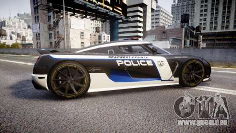Koenigsegg Agera 2013 Police [EPM] v1.1 PJ3 für GTA 4 linke Ansicht