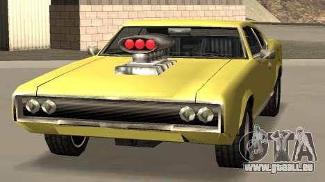 Sabre Charger pour GTA San Andreas sur la vue arrière gauche