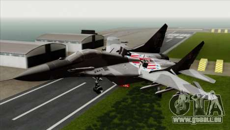 MIG-29A Polish Air Force Kosynierzy pour GTA San Andreas