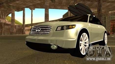 Infiniti FX 45 2007 für GTA San Andreas Innenansicht