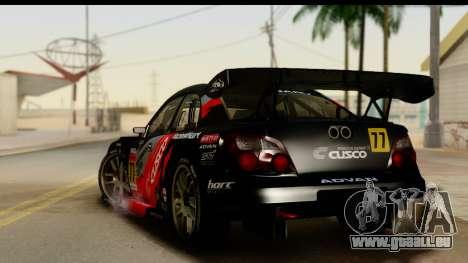 Subaru Impreza WRX STI 2003 JGTC pour GTA San Andreas laissé vue