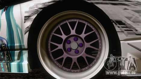 Acura NSX Miku Ghoul Itasha pour GTA San Andreas sur la vue arrière gauche
