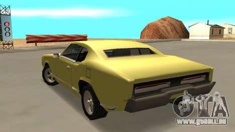 Sabre Charger pour GTA San Andreas laissé vue