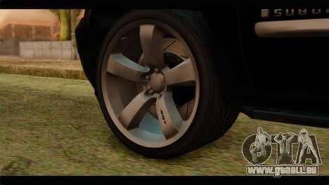 Chevrolet Suburban 2010 FBI pour GTA San Andreas sur la vue arrière gauche