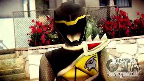 Power Rangers Kyoryu Black Skin für GTA San Andreas dritten Screenshot