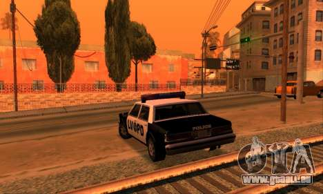 Beta LVPD Police pour GTA San Andreas vue arrière