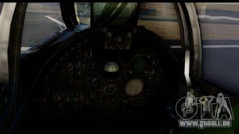 Ling-Temco-Vought A-7 Corsair 2 Belkan Air Force pour GTA San Andreas sur la vue arrière gauche