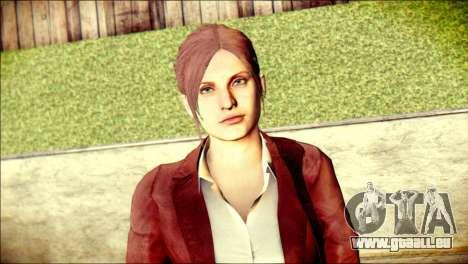 Claire Redfield from Resident Evil pour GTA San Andreas troisième écran