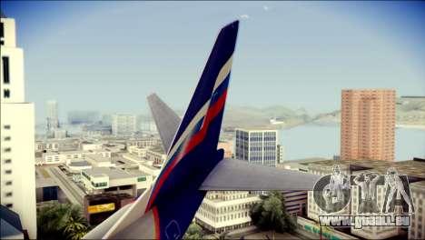 Boeing 737-800 Aeroflot pour GTA San Andreas sur la vue arrière gauche