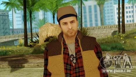 Big Rig Alex Shepherd Skin without Flashlight für GTA San Andreas dritten Screenshot