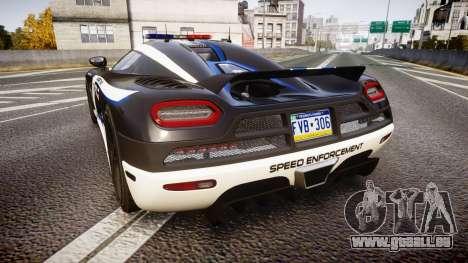 Koenigsegg Agera 2013 Police [EPM] v1.1 PJ3 für GTA 4 hinten links Ansicht