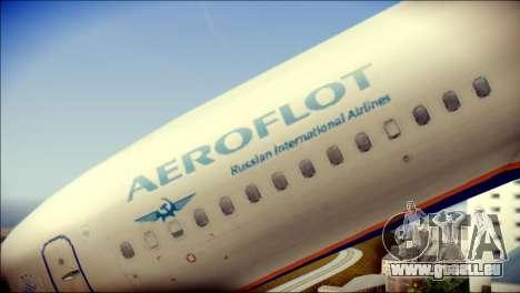Boeing 737-800 Aeroflot pour GTA San Andreas vue arrière
