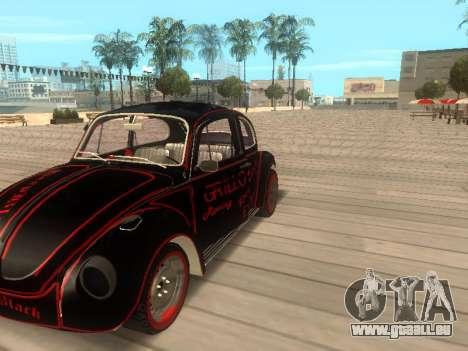 Volkswagen Super Beetle Grillos Racing v1 pour GTA San Andreas vue de droite