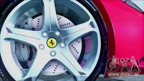 Ferrari California 2009 für GTA San Andreas zurück linke Ansicht