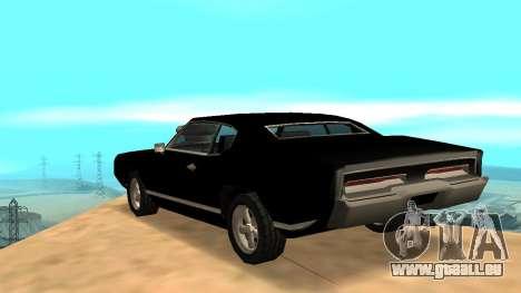 Sabre Charger pour GTA San Andreas vue de côté