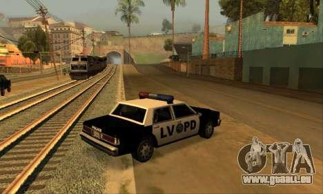 Beta LVPD Police für GTA San Andreas linke Ansicht