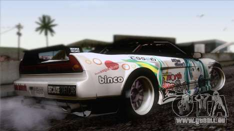 Acura NSX Miku Ghoul Itasha pour GTA San Andreas laissé vue