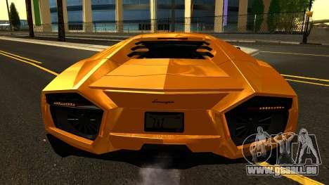 Lamborghini Reventon 2008 pour GTA San Andreas vue de côté