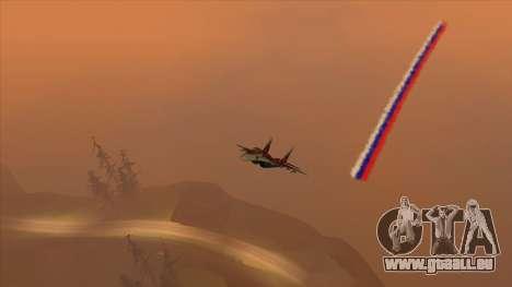 Le drapeau de la Russie pour les avions pour GTA San Andreas deuxième écran