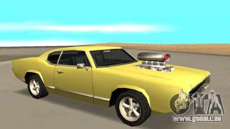 Sabre Charger pour GTA San Andreas vue arrière