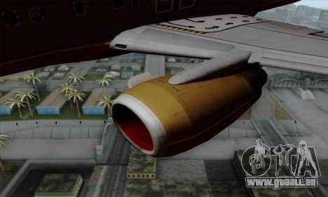 Boeing 737-800 Southwest Gold für GTA San Andreas rechten Ansicht