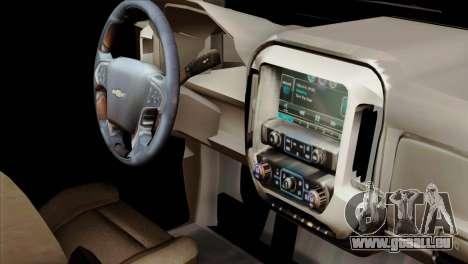 Chevrolet Silverado 2014 LTZ für GTA San Andreas rechten Ansicht