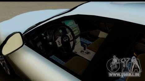 Infiniti FX 45 2007 pour GTA San Andreas vue arrière