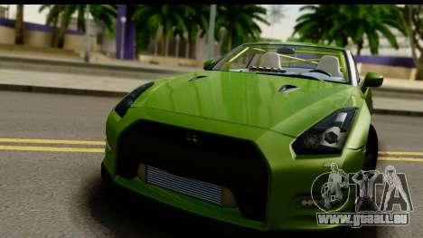 Nissan GT-R Dragster pour GTA San Andreas sur la vue arrière gauche