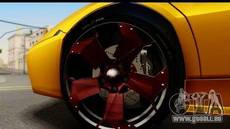 Lamborghini Reventon 2008 pour GTA San Andreas vue arrière