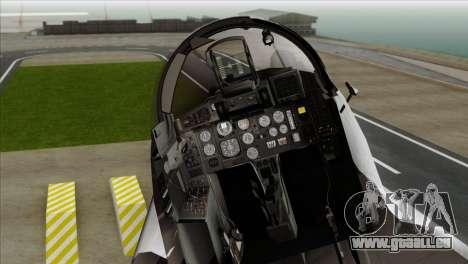 MIG-29A Polish Air Force Kosynierzy für GTA San Andreas Rückansicht