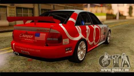 Audi S4 B5 2002 Champion Racing pour GTA San Andreas laissé vue