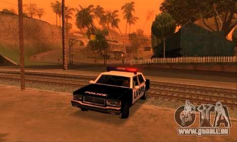 Beta LVPD Police pour GTA San Andreas vue intérieure